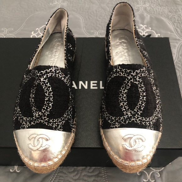 5e41563a4 CHANEL Shoes | Espadrilles With Box Us Size Womens Size 6 | Poshmark